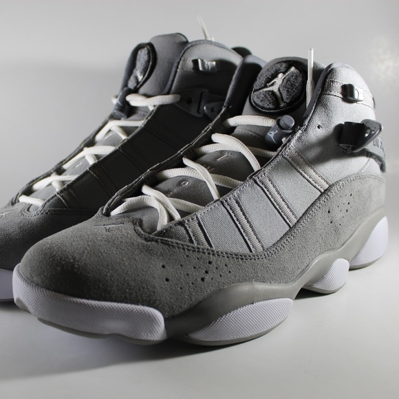 7f173ff4d919bc NIKE AIR JORDAN 6 RINGS SHOES SILVER COOL GREY. M 5c3b7478d6dc52159386fc6a